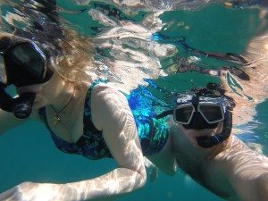Snorkeling with mom